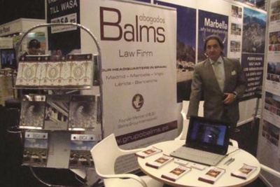 Balms Abogados takes part in the Real Estate Exhibition in Stockholm
